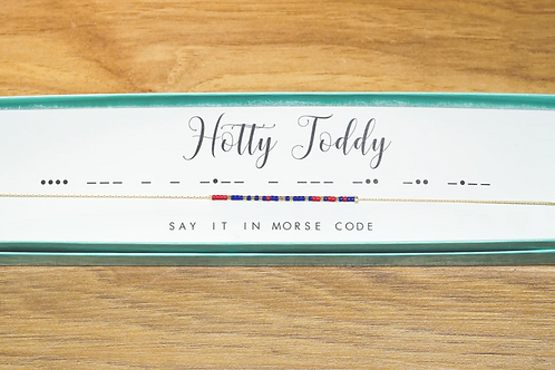 Hotty Toddy Morse Code Necklace