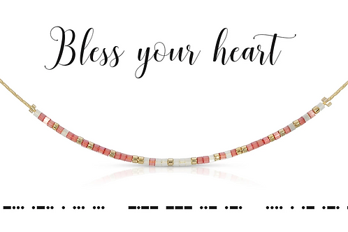 Bless Your Heart Morse Code Necklace
