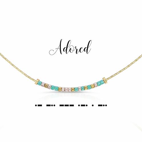 Adored Morse Code Necklace