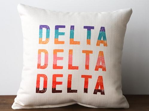 Delta Delta Delta Stripe Pillow