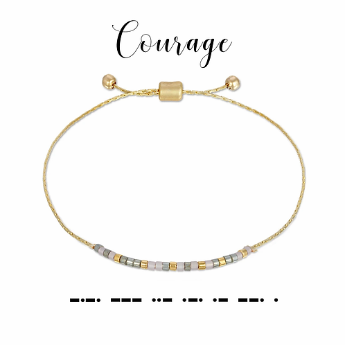 Courage Morse Code Bracelet