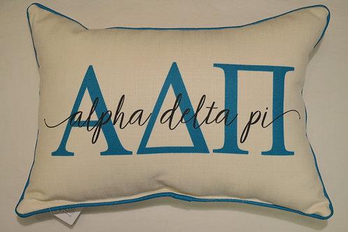 Alpha Delta Pi Overlap Pillow