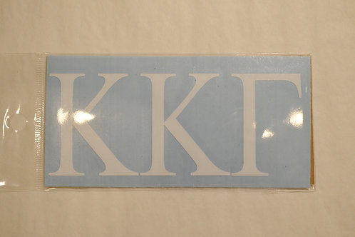 Kappa Kappa Gamma Decal