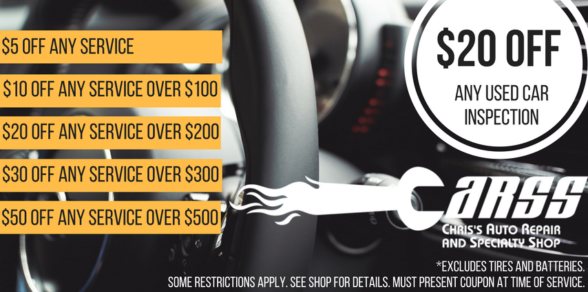 CARSS coupon for car repair services
