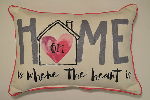 Phi Mu Home Pillow