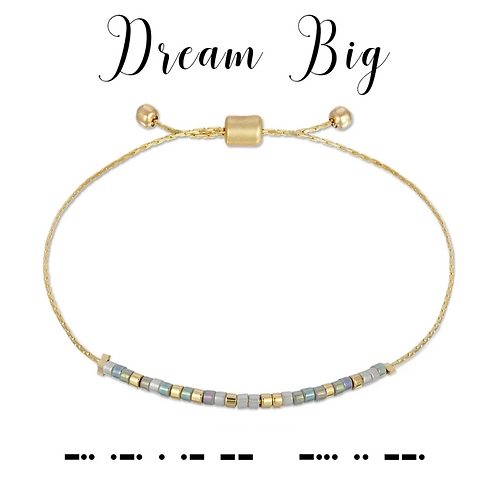 Dream Big Morse Code Bracelet