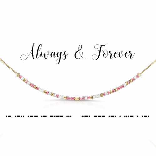 Always & Forever Morse Code Necklace