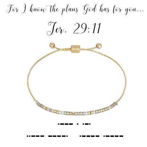 Jer. 29:11 Morse Code Bracelet