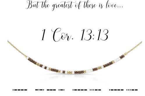1 Cor. 13:13 Morse Code Necklace