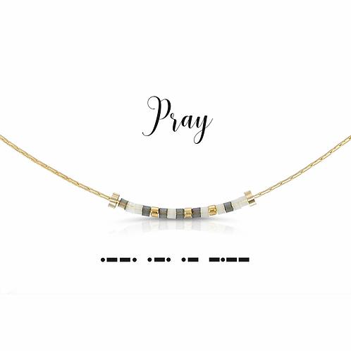 Pray Morse Code Necklace