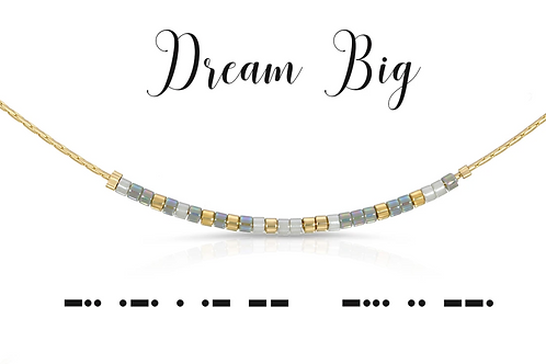 Dream Big Morse Code Necklace