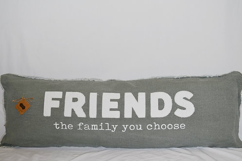 Friends Log Pillow