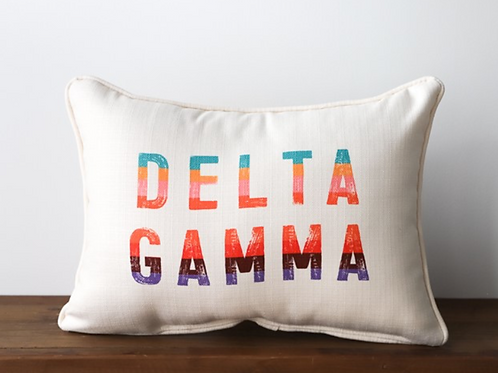Delta Gamma Stripe Pillow