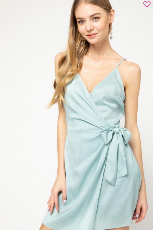 Aqua Wrap Dress