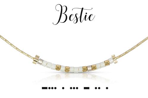 Bestie Morse Code Necklace