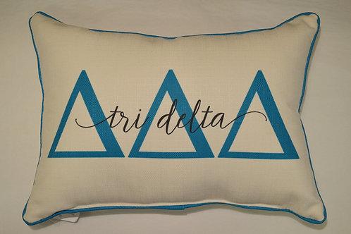 Delta Delta Delta Overlap Pillow