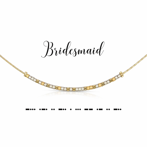 Bridesmaid Morse Code Necklace