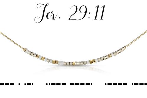 Jer. 29:11 Morse Code Necklace