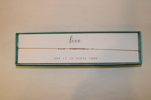 Love Morse Code Necklace