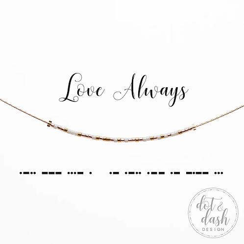 Love Always Morse Code Necklace