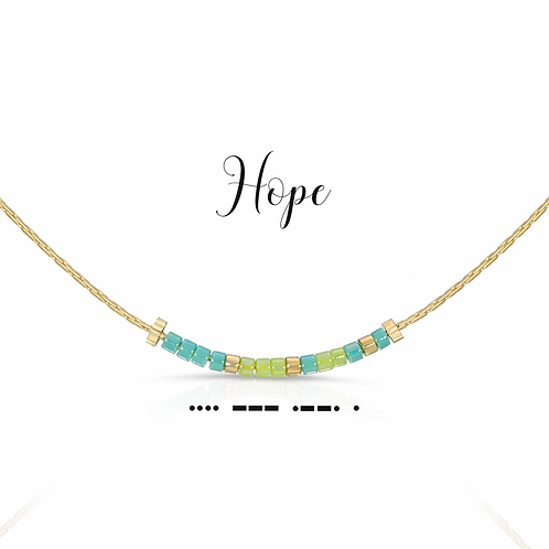 Hope Morse Code Necklace