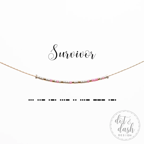 Survivor Morse Code Necklace