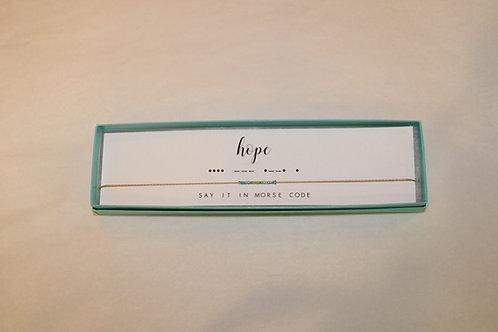Hope Morse Code Necklace