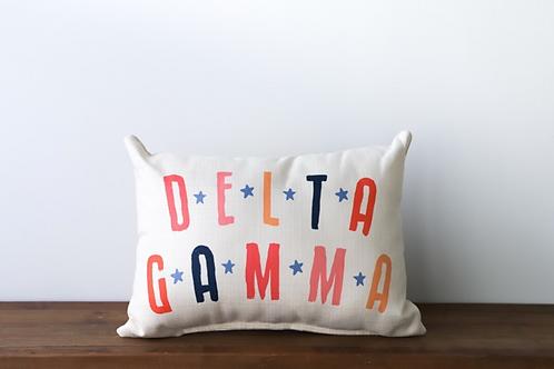 Delta Gamma Stars Pillow