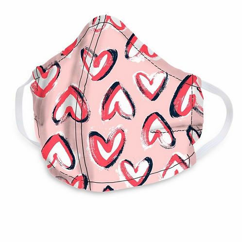 Vera Bradley Mask in Hearts Iced Pink