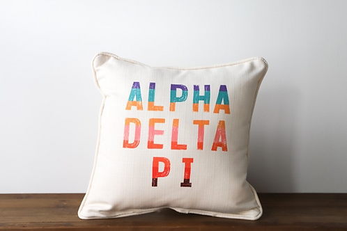 Alpha Delta Pi Stripe Pillow