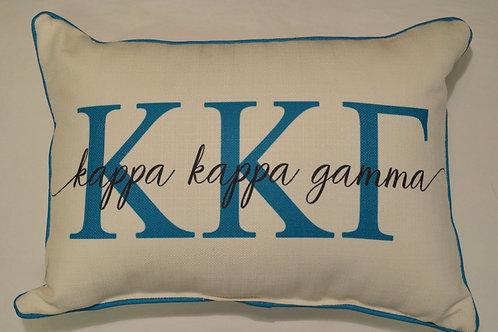Kappa Kappa Gamma Overlap Pillow