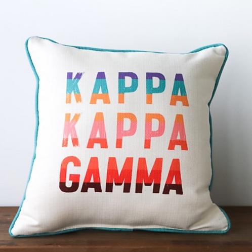 Kappa Kappa Gamma Stripe Pillow