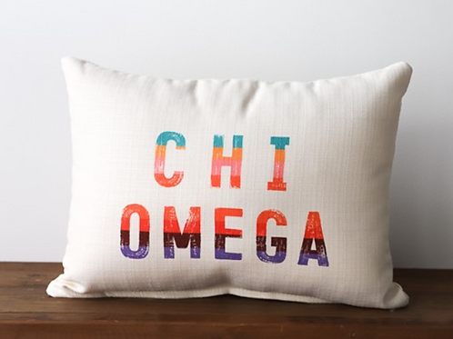 Chi Omega Stripe Pillow