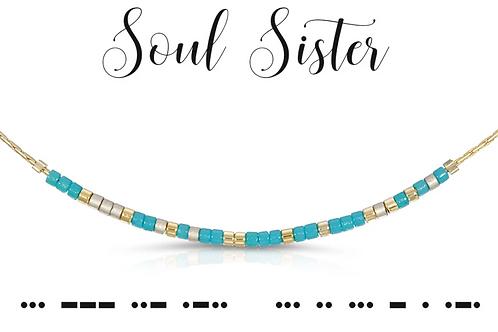 Soul Sister Morse Code Necklace