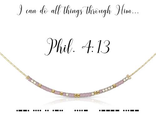 Phil. 4:13 Morse Code Necklace