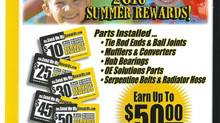 Take advantage of our Rewards Program and earn up to $50 back on included parts.