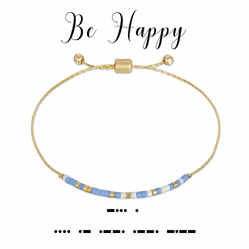 Be Happy Morse Code Bracelet