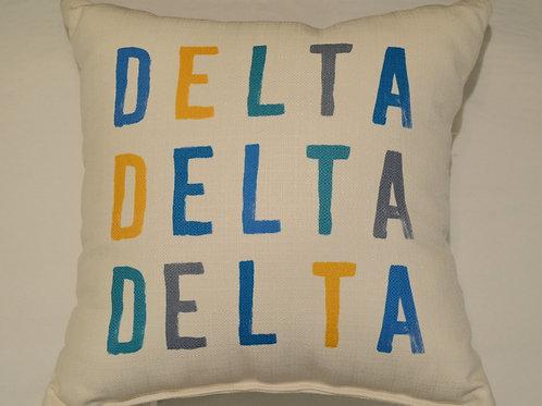 Delta Delta Delta Tonal Pillow