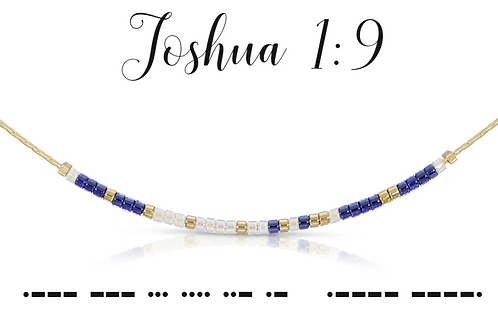 Joshua 1:9 Morse Code Necklace