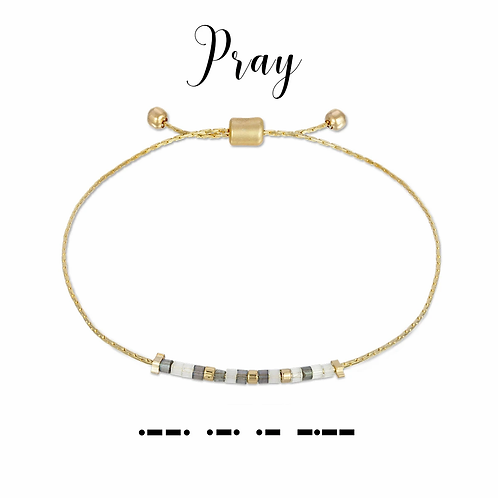 Pray Morse Code Bracelet