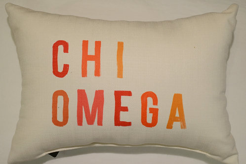 Chi Omega Tonal Pillow