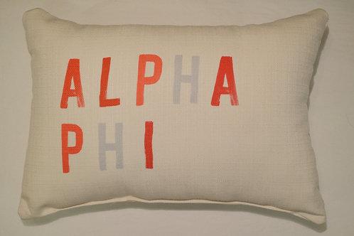 Alpha Phi Tonal Pillow