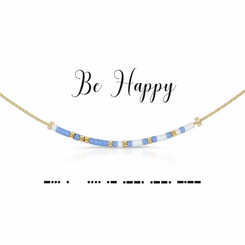 Be Happy Morse Code Necklace