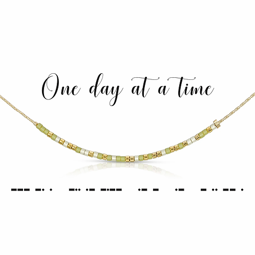 One Day at a Time Morse Code Necklace