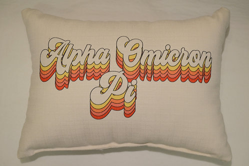 Alpha Omicron Pi Groovy Pillow