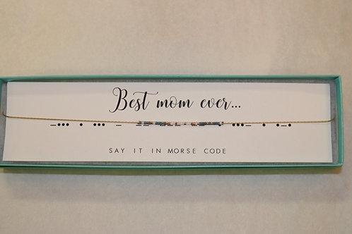 Best Mom Ever Morse Code Necklace
