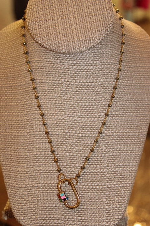 Beaded Chain with Color Lock