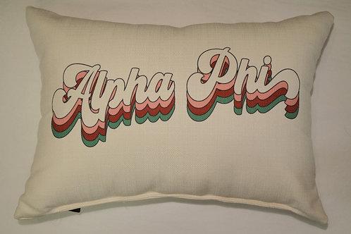 Alpha Phi Groovy Pillow
