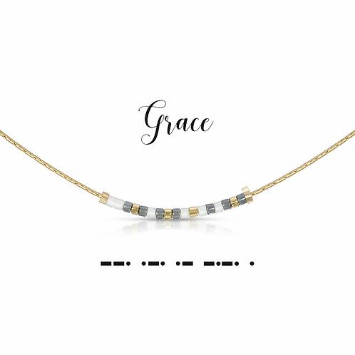 Grace Morse Code Necklace