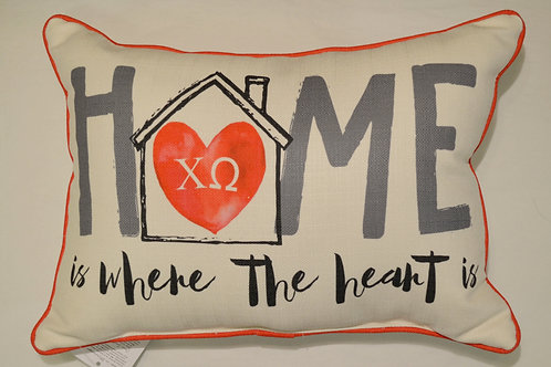 Chi Omega Home Pillow